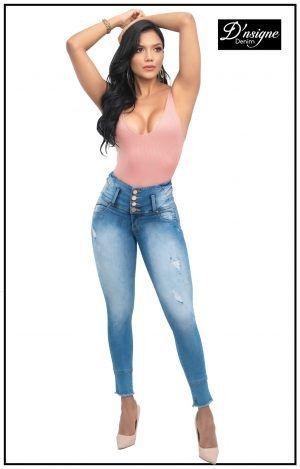 Pantalón colombiano azul claro